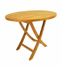 """Anderson Teak TBF-035R Bahama 35"""" Round Bistro Folding Table by Anderson Teak. Save 25 Off!. $435.00. Made from kiln dried first grade plantation grown teakwood (Tectona Grandis) from legal sources in Indonesia. Natural finish. Marine grade brass and stainless steel fittings. Teak requires no varnishing due to its natural oil content. This solid teak """"Round Bistro Folding Table"""" makes the perfect addition to your patio, garden, backyard or anywhere. Fold it up and carry it away.Just put ..."""