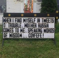 22 Anti-Trump Church Signs That Will Restore Your Faith In Humanity (Photos) Donald Trump, Donald Duck, Church Signs, Spoken Word, Funny Signs, Laugh Out Loud, Just In Case, I Laughed, Wisdom