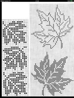 Cross Stitch Cards, Cross Stitch Borders, Cross Stitch Flowers, Cross Stitch Designs, Cross Stitching, Cross Stitch Embroidery, Embroidery Patterns, Cross Stitch Patterns, Crochet Leaves