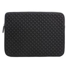 Laptophülle | Evecase Universal Neopren Anti-Schock Laptop Schutzhülle mit Rautenmuster / Diamant-Muster Schaumpolsterung für 13.3 - 14 Zoll Notebook - Schwarz