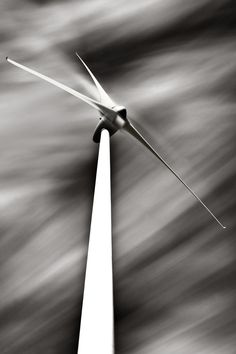 Algarve Wind Farm. Long Exposure Fine Art Black and White Photography