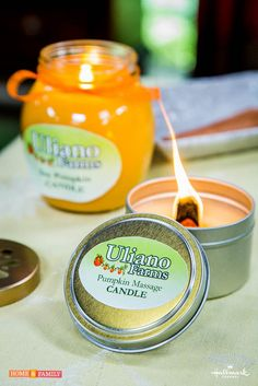 Organic Pumpkin Massage Candle by @sophieuliano! Catch Home and Family weekdays at 10/9c on Hallmark Channel!