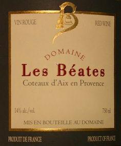 HIPPOVINO: 14 vins pour débuter 2014, les rouges (partie 1) - Fance - Coteaux d'Aix en Provence - vin rouge - bio - Les Béates - Code SAQ 11358260