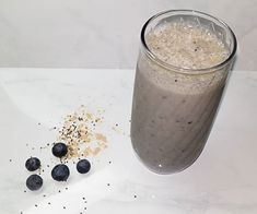 This smoothie get's you in and out of the kitchen fast - feeling great and ready for your day! Fresh home made coconut milk and delicious blueberries + it's packed with protein.