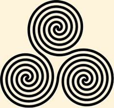 Ancient celtic symbol for earth, sky and sea: The spiral is an ancient symbol that has been used since the beginning of time in many different cultures around the world.