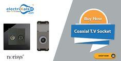Deals you desire!!!! #NORISYS  Coaxial T.V Sockets | electrikals.com