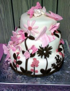 Seven Deadly Sweets: Our Cakes Throughout The Years: Butterfly Baby Shower Cake     This is the one I like the most!!!!
