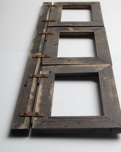 barnwood collage frame 3 hole 4x6 multi opening frame rustic picture frame reclaimed