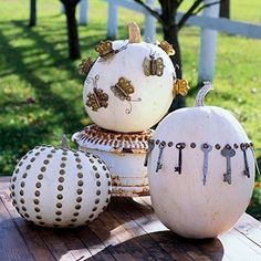 ThanksJunk Pumpkins + Lacy Pumpkins + Bling Pumpkins awesome pin