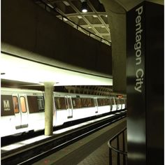 Pentagon City Metro station in Washington, DC-- wish I had a picture of the extremely steep escalator!  Sept 30, 2012