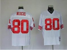 http://www.xjersey.com/49ers-80-rice-white-throwback-jerseys.html 49ERS 80 RICE WHITE THROWBACK JERSEYS Only $34.00 , Free Shipping!