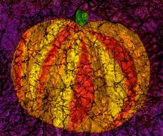 Crayon batik pumpkin