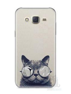 Capa Capinha Samsung J7 Gato Com Óculos - SmartCases - Acessórios para celulares e tablets :)