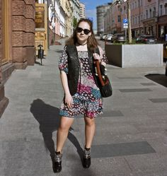 FASHION STORY #3: A SUNNY DAY   boho dress, leather vest, chelsea boots, sunnies  https://chernajakurica.com/2017/05/23/fashion-story-3-a-sunny-day/