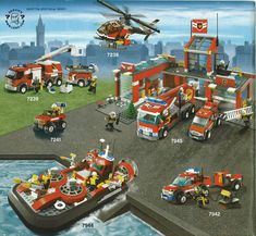 Thousands of complete step-by-step printable older LEGO® instructions for free. Here you can find step by step instructions for most LEGO® sets. Lego City Fire Truck, Fire Trucks, Lego City Fire Station, Lego Group, Class Room, Lego Instructions, Old Toys, Lego Sets, Legos