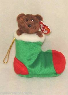 Christmas Ty Beanie Babies - Stockings the Bear  - Available at Connected Concepts e-Commerce Shop at eBay Stores