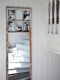 great window or door frame redo ~ photos on top, mirror on the bottom