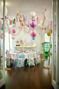 A Sparkly Mermaid Party by Little Big Company - Wix Template - Create your website with Wix. - A Sparkly Mermaid Party by Little Big Company Tea Party Birthday, Unicorn Birthday Parties, Mermaid Birthday, Birthday Ideas, Birthday Games, Unicorn Decorations Party, Party Ceiling Decorations, Pastel Party Decorations, Wedding Decorations