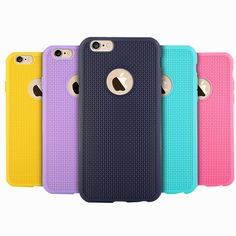 Ultra thin Soft Silicone Rubber Phone Case For iPhone 6 6S Plus 5 5S SE Grid Phone Back Cover For iPhone 6s 6 Phone Bag Capa