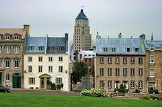 Québec sur les hauteurs de la vieille ville 6 édifice Pryce dans la brume (by paspog)    Quebec City, Quebec, Canada