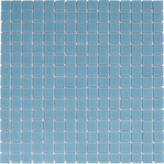 pourquoi pas une mosaïque murale en pâte de verre ? {Mosalisse, bleu clair, 32.8x32.8cm | Leroy Merlin}
