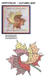 Irisvouwen: Autumn Leaf