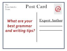EzineArticles Asks: What Are Your Best Grammar Tips?