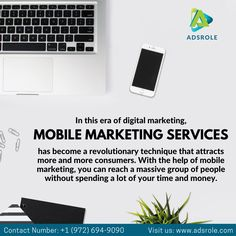 At AdsRole we provide Mobile Marketing Services that focus on lead generation and eCommerce solutions to grow your business online.  Call us today for FREE Consultation on +1 (972) 694-9090 or simply visit our website: www.adsrole.com.  #AdsRole #texas #digitalmarketing #onlinemarketing #mobilemarketing #marketingstrategy Top Digital Marketing Companies, Social Media Marketing, Online Marketing, Local Seo Services, Companies In Usa, Ecommerce Solutions, Free Quotes, Mobile Marketing, Lead Generation