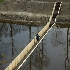 netherlands bridge stream river architecture cool moses timber water foot bridge road architects