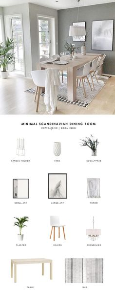 #ScandiDiningRoom Copy Cat Chic Room Redo | Minimal Scandinavian Dining Room
