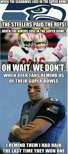 Seahawks 49ers hate!