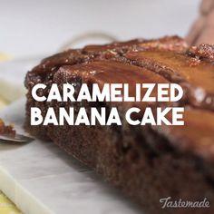 Caramelized Banana Cake recipe