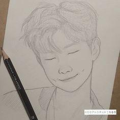 A little drawing for Namjoon's birthday . #happynamjoonday #happybirthday #namjoon #rapmonster #rapmon #bts #bangtanboys #btsfanart #kpopfanart #kpop #drawing #traditionalart #pencildrawing #dibujoalapiz #dibujo #pencil #art #portrait #sketch #illustration #sketchbook #rapmonsterfanart #cute #dimples