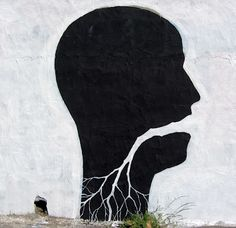 Minimal street art by Pablo S. Herrero and  David de la Mano