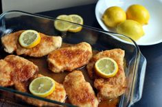 BROWN SUGAR & LEMON CHICKEN. Next time will mix some chicken broth with the lemon juice, pour it over the chicken AFTER it has been topped with the brown sugar, and eliminate the lemon zest.