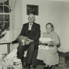 Pa & Granny in their living room in Thomasville at Christmas.