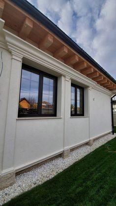 Proiect Casa Rezidentiala Bacau 2 – Profile Decorative Stucco Exterior, Exterior Houses, Garage Doors, Windows, Interior, Outdoor Decor, Design, Home Decor, Ideas