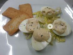 Plato de huevos rellenos del Menú del Día | Restaurante vinoteca cafetería Nova Lúa Chea en A Coruña