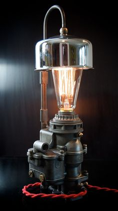 Machine Age/Dieselpunk Ford Carburetor Lamp with Air by carnart
