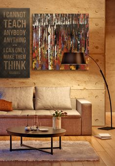 Love the wall art combo, and general feel of this room!