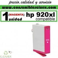 HP 920 XL MAGENTA CARTUCHO TINTA COMPATIBLE/RECICLADO