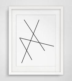 Geometric Art Minimalist Black and White von MelindaWoodDesigns
