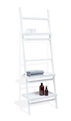 DWBA Stone Wall Towel Rack Ladder for Bathroom Spa Towel Hanger 3 Shelves, White - pool towel Ladder Towel Racks, Towel Rack Pool, Towel Hanger, Hotel Towels, Spa Towels, Towel Holder Bathroom, Bathroom Spa, White Bathroom, Towel Warmer Rack