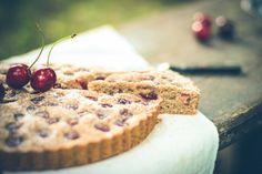 Špaldový letný koláč s čerešňami