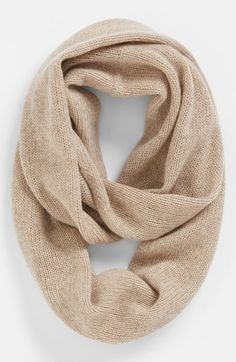 Nordstrom 'Touch of Sparkle' Cashmere Infinity Scarf Womens Oat Heather/ Gold One Size One Size Outfit Essentials, Sweater Weather, Look Man, Cashmere Scarf, Wool Scarf, Clutch, Pullover, Passion For Fashion, Autumn Winter Fashion