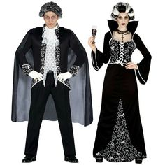 Pareja Disfraces de Vampiros Royal #parejas #disfraces #carnaval
