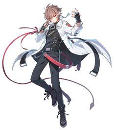 그랜드체이스 카페톡 Fantasy Character Design, Character Design Inspiration, Character Concept, Character Art, Cool Anime Guys, Anime Poses, Handsome Anime, Anime Artwork, Anime Outfits