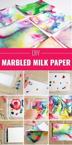 Have Fun With Marbled Milk Paper