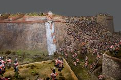 Incredible 1/72nd scale diorama of the Siege of Badajoz created by Recreaciones Historicas en Miniatura.