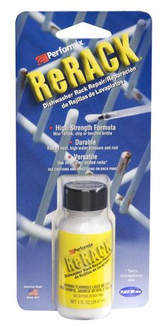 White coating over metal - - in a bottle - Rerack Dishwasher Rack Repair - White 630076